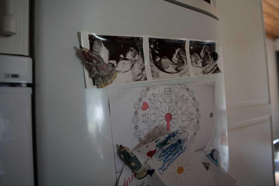 Polina Allemann är gravid i nittonde veckan.