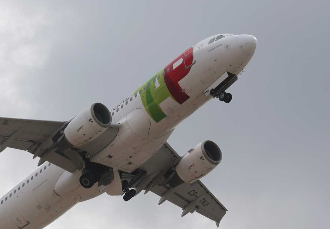 Det portugisiska flygbolaget TAP:s flygningar till och från Venezuela stoppas tillfälligt. Arkivbild.