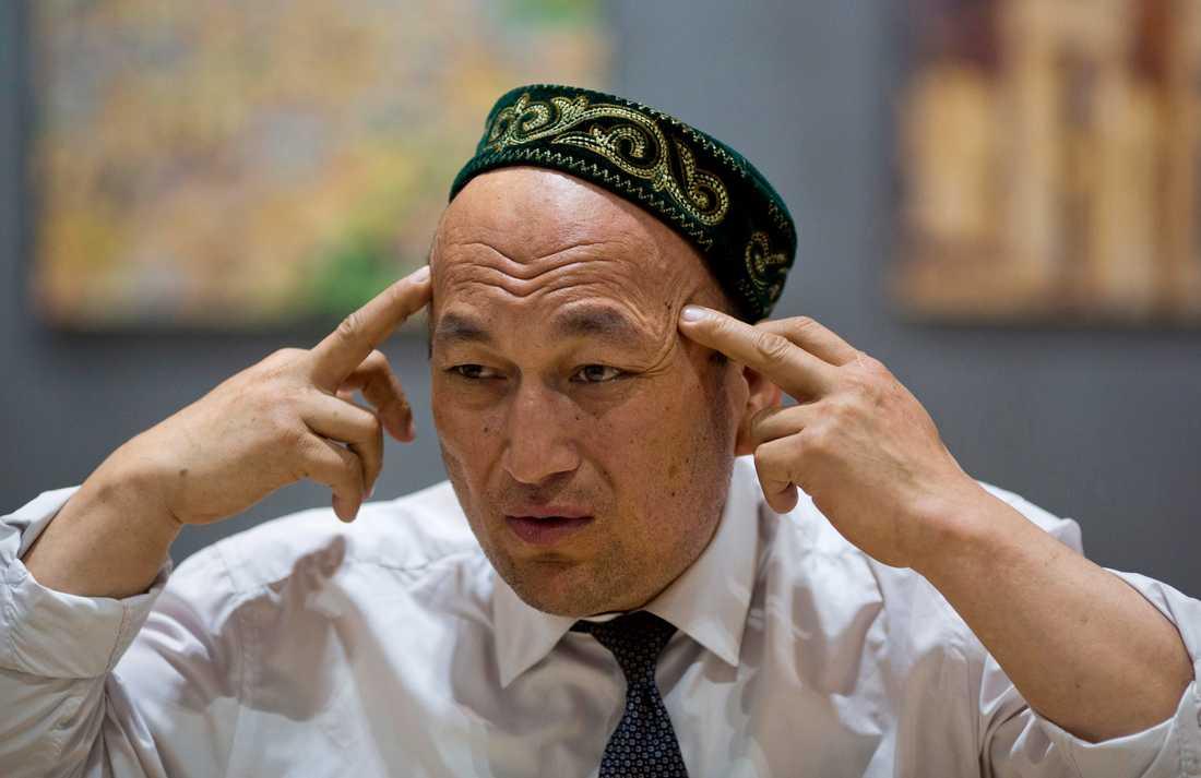Omir Bekali, som tillhör uigur-minoriteten i Kina, berättar om den svåra psykosociala stress han utsattes för när han hölls i ett kinesiskt läger. Arkivbild.