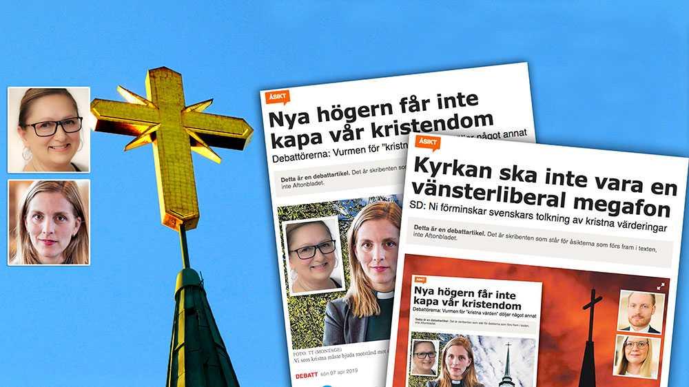 """För oss som troende kristna är """"kristna värden"""" synonymt med rättvisa och barmhärtighet. Det kan aldrig handla om att sätta gränser och utestänga människor från skydd, hjälp och trygghet, skriver Anna Ardin och Dahlgren Nyberg, Socialdemokrater för tro och solidaritet."""