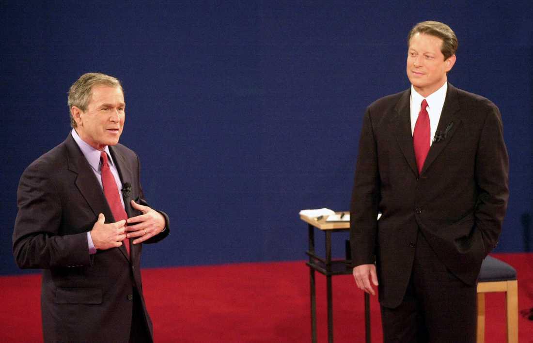 Presidentvalet 2000 är ett av de mest kontroversiella i USA:s historia. George W Bush blev president efter att frågan avgjorts i Högsta domstolen.