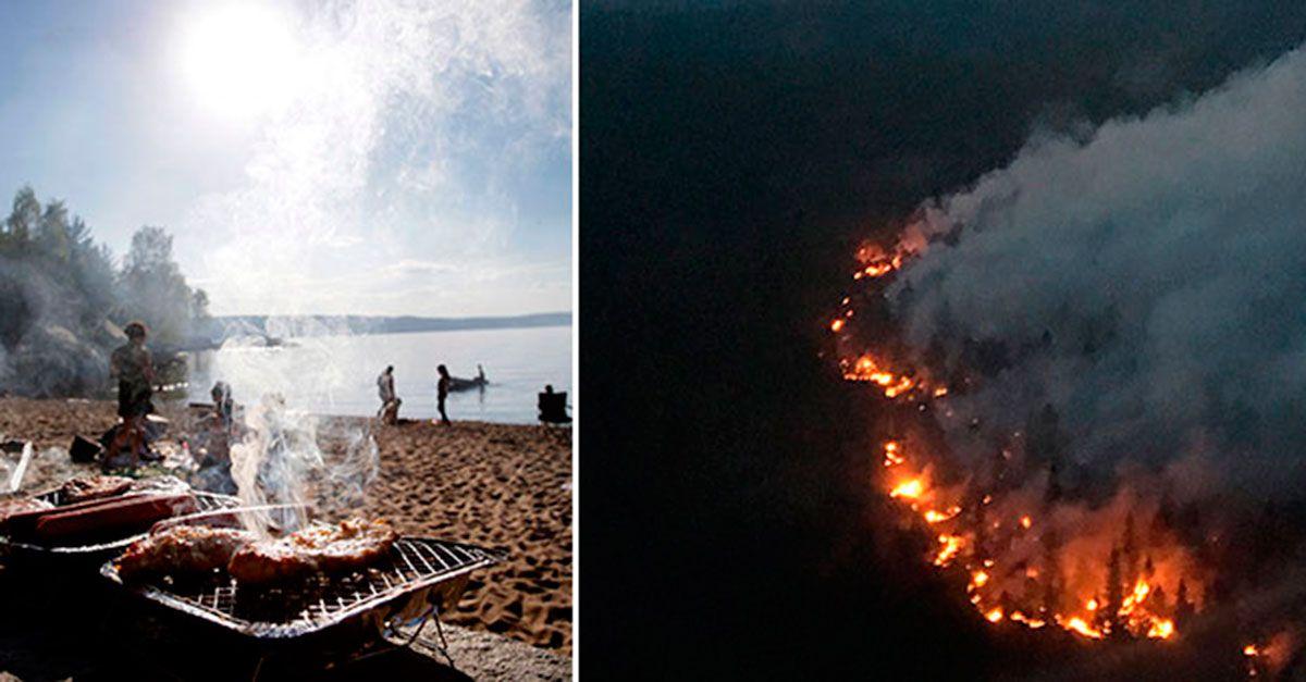 Trots varningarna: 32 larm om eldning i det fria – på tre timmar