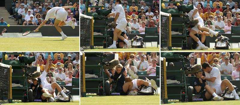 Michael Llodra föll tungt i Wimbledon...