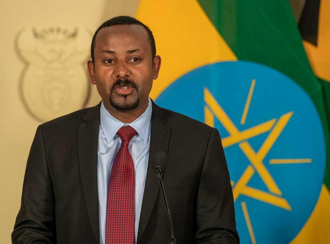 Etiopiens premiärminister Abiy Ahmed. Arkivbild.