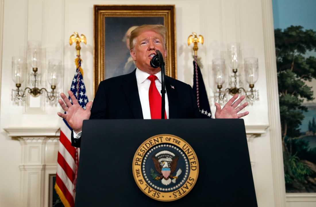 President Donald Trump lägger i ett tal fram en kompromiss som han hoppas ska ge USA en ny budget med finansiering av en mur mot Mexiko.