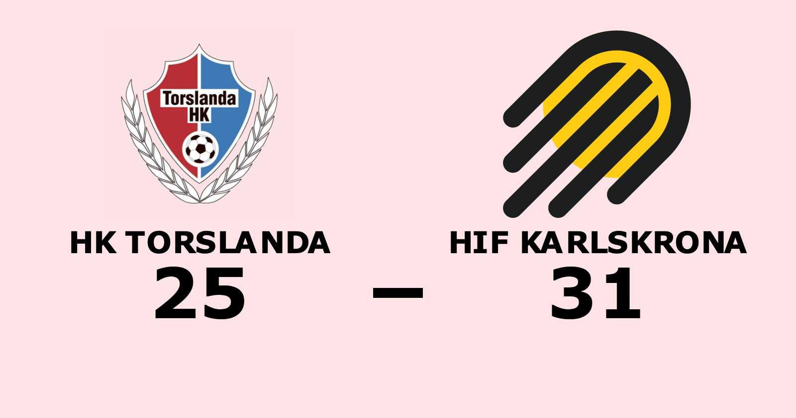 Förlust för HK Torslanda hemma mot HIF Karlskrona