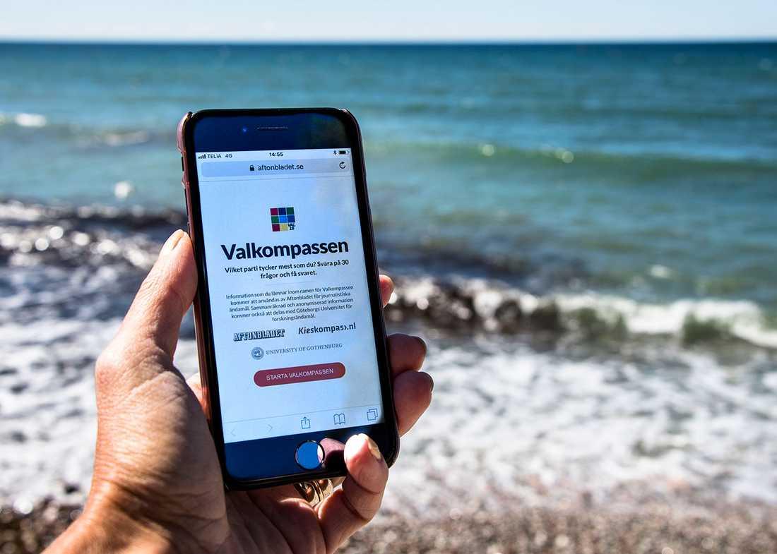 Aftonbladets Valkompass hjälper till att matcha dig med rätt parti.