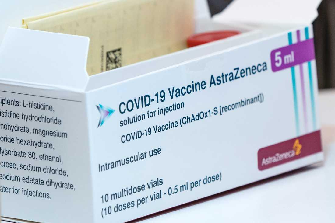 Läkemedelsverket stoppar inte fortsatt vaccinering med Astra Zenecas vaccin. Arkivbild.