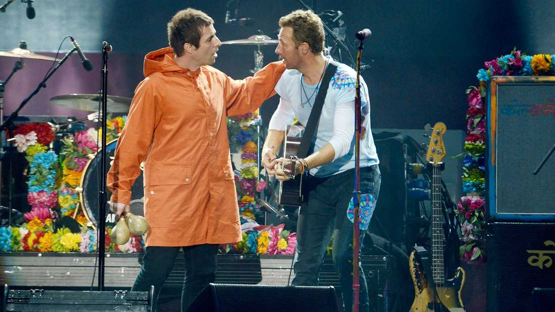 Liam Gallagher och Chris Martin (Coldplay).