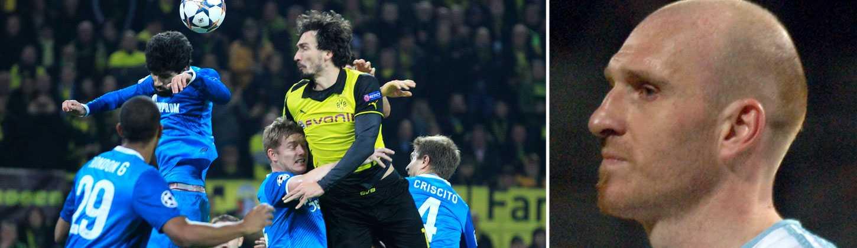 Norrmannen Erik Hagen (till höger) spelade i Zenit under tre år. I årets Champions League blev de utslagna mot Dortmund i åttondelsfinalen.