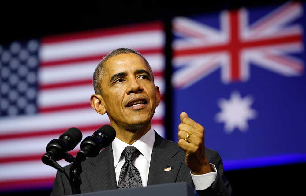 Barack Obama på toppmötet i Australien.