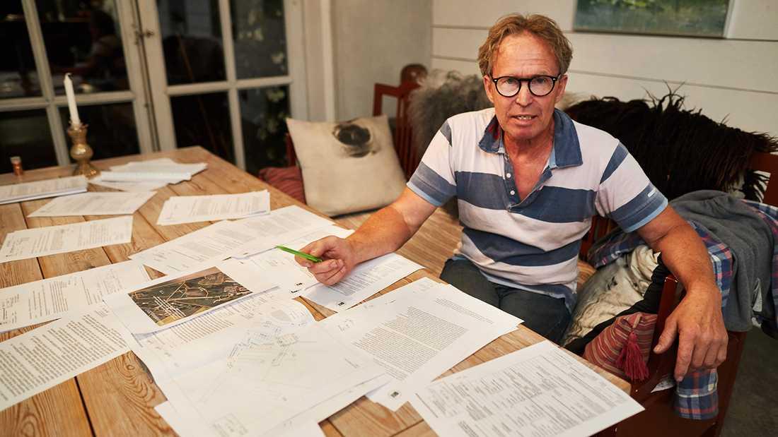 Peter Johansson, granne till paret Mandelmann.