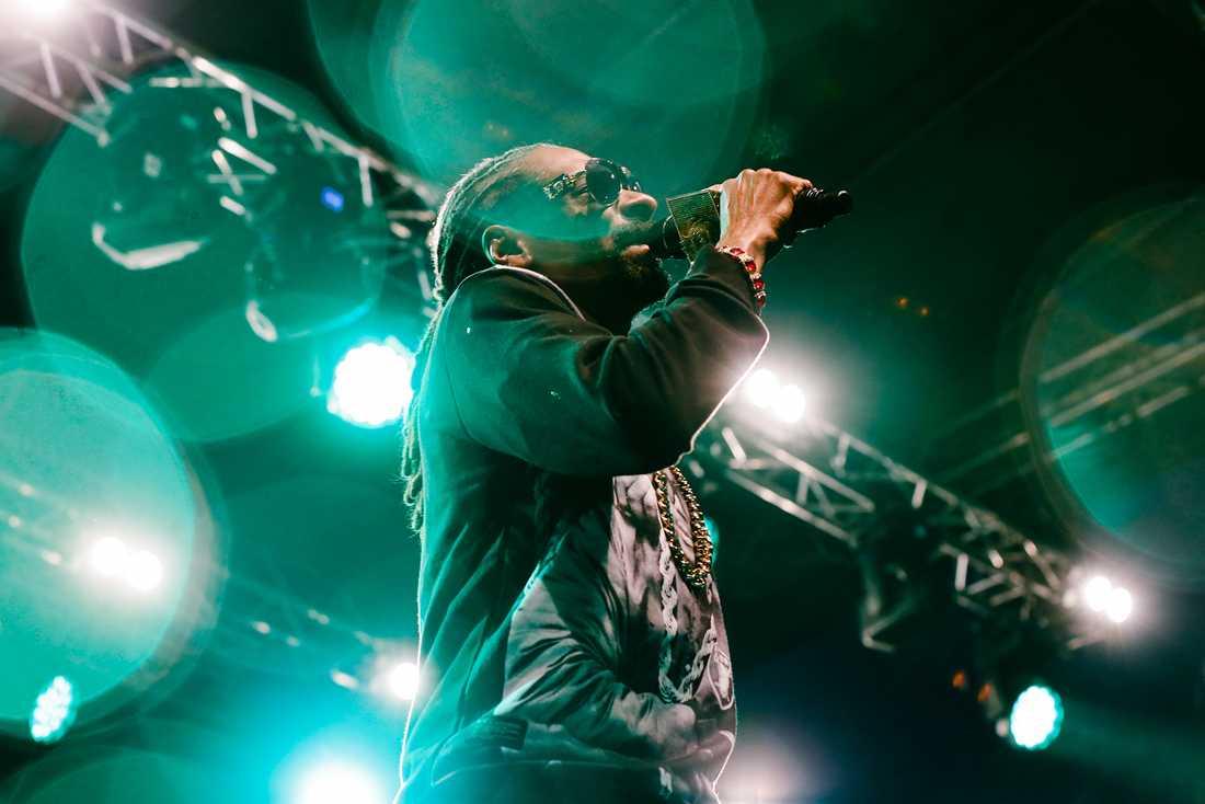 Snoop Dogg under lördagskvällen där han spelade på Flustret i Uppsala