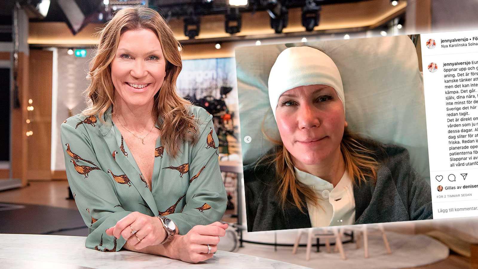 Jenny Alversjö tvingad till ny operation efter stroken