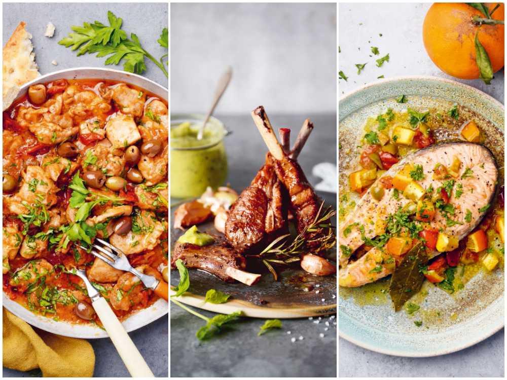 Kycklingryta, lammkotletter eller lax, allt med italienska smaker.