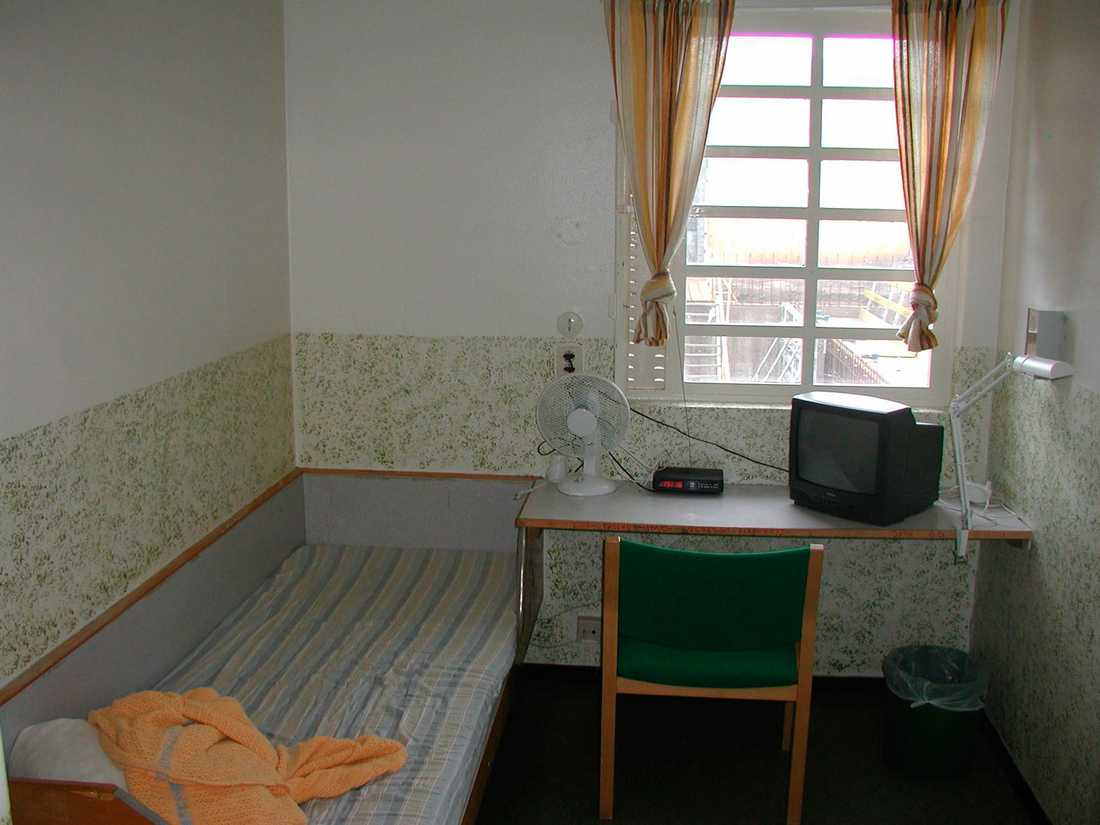 En cell på Tidaholmsanstalten.