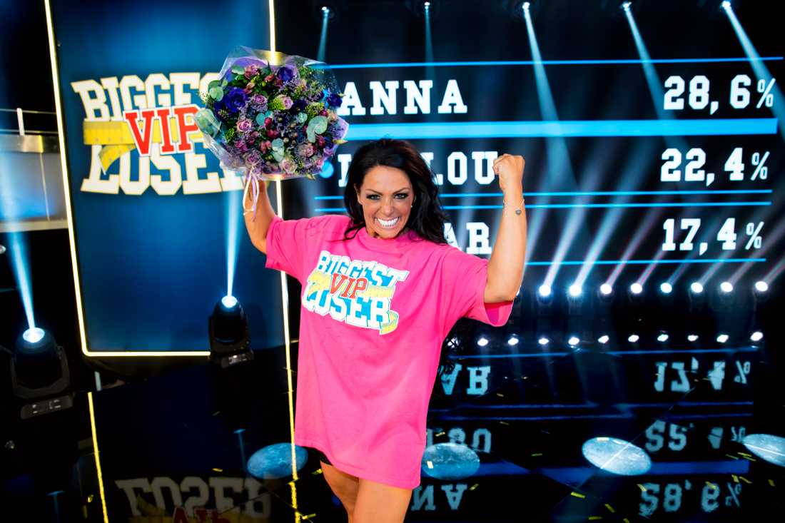 "Anna Book vann ""Biggest loser VIP""."