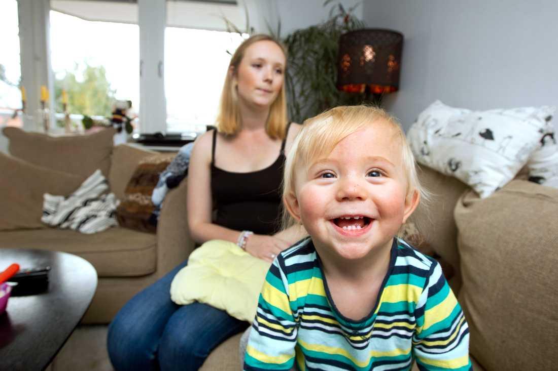 Den största glädjen i livet för Emelie är sonen Loke.