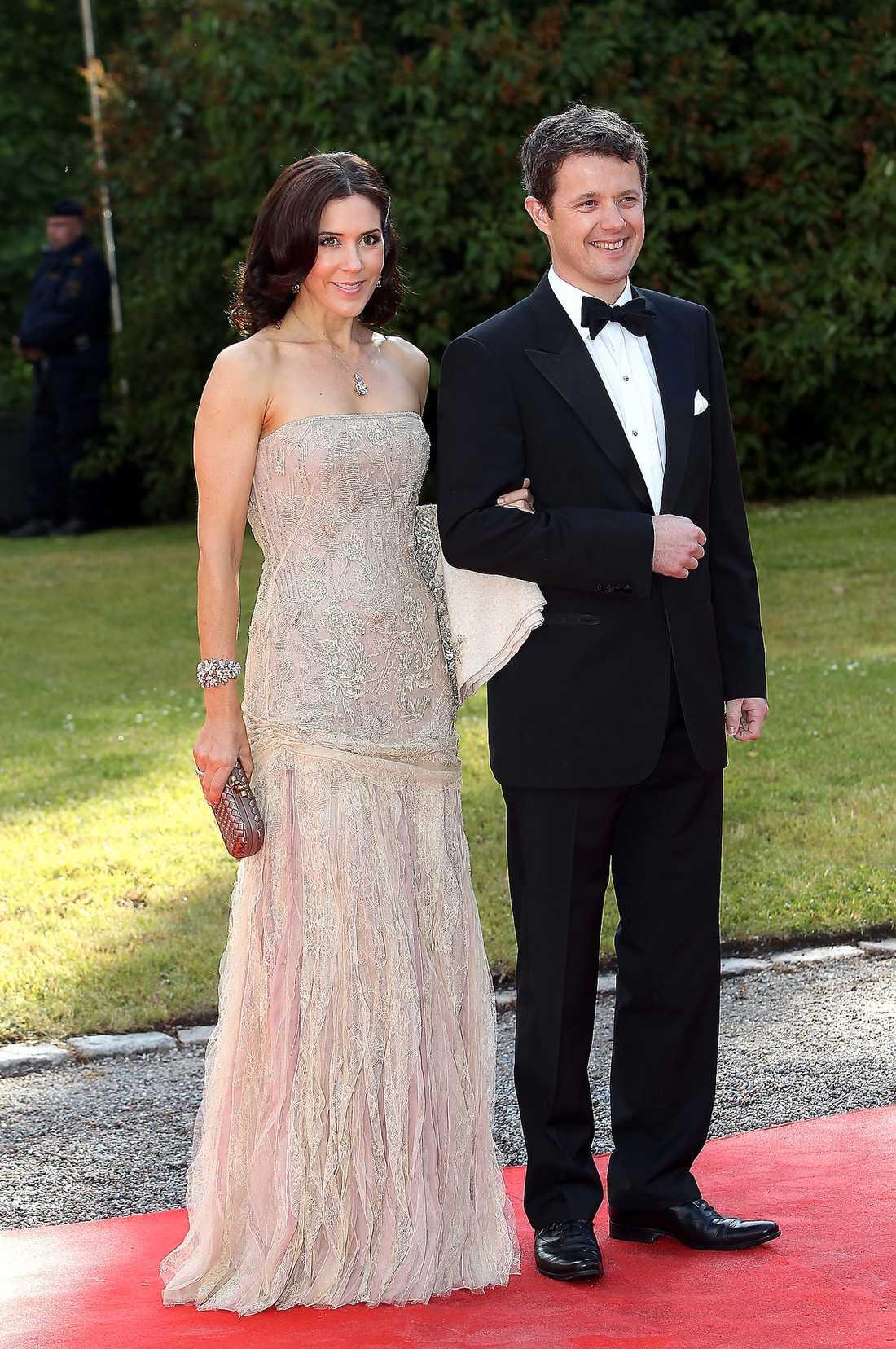 Kronprinsessan Mary tillsammans med sin kronprins Frederik.