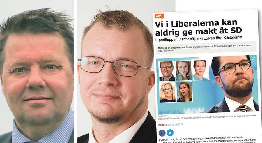 Vi tror inte Liberalerna kommer att vara kvar som parti i riksdagen 2022 om de sviker sina två absolut största vallöften, skriver Håkan Lösnitz och Heikki Klaavuniemi.