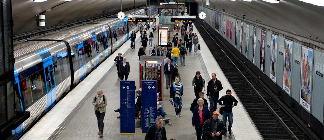 Tunnelbanan i Stockholm/arkivbild.