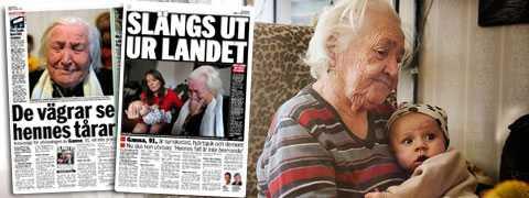 Demensen, hjärtsjukdomarna, blindheten och ensamheten räckte inte. Ganna Chyzhevska, 91, får inte stanna i Sverige.