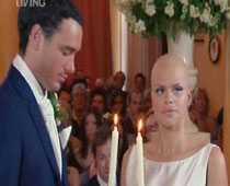 Jade Goody och Jack Tweed vid bröllopet.