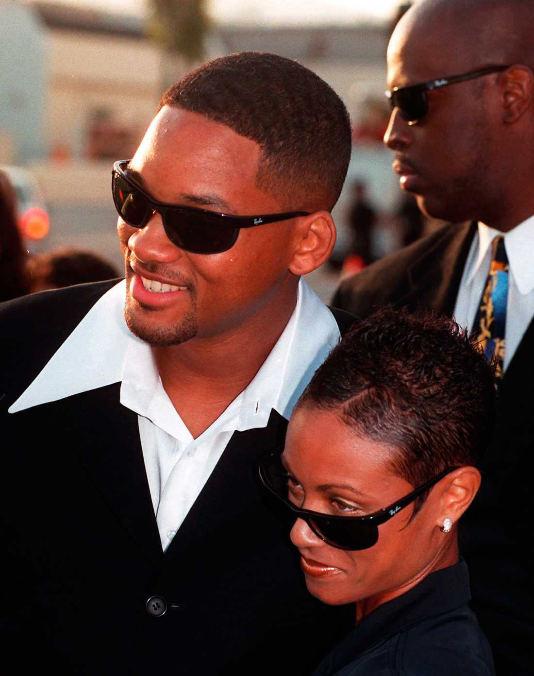 "Will och Jada på premiären av ""Men in black"" 1997."