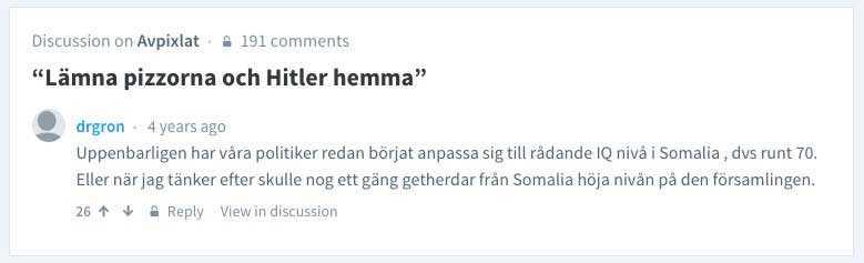 En 47-årig överläkare skriver att IQ-nivån i Somalia ligger runt 70.