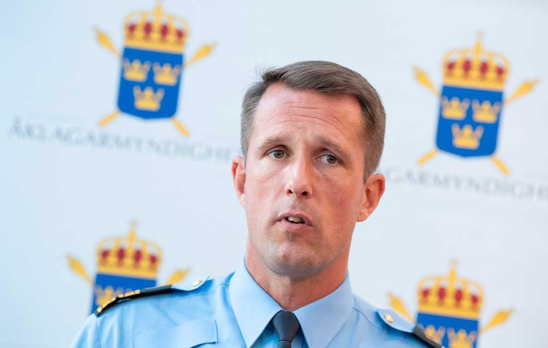 Mattias Sigfridsson, tillförordnad polisområdeschef i polisområde Malmö.