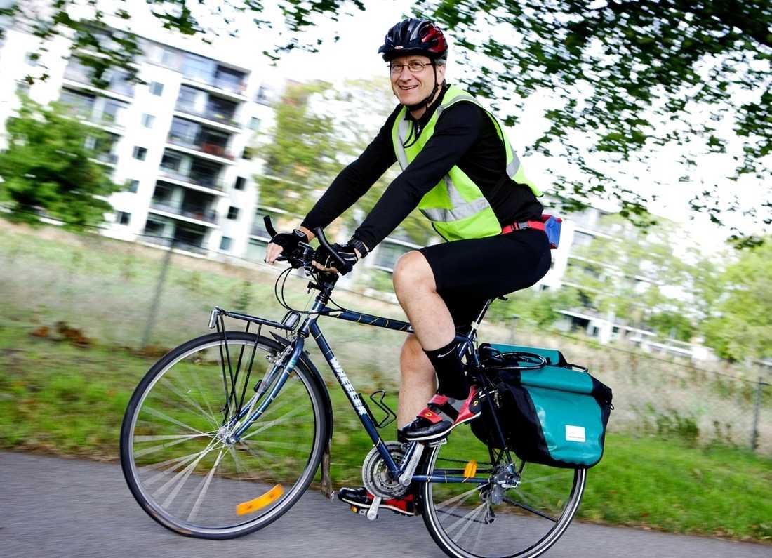 """""""Tidigare hade jag problem med ryggen. Det är definitivt bättre så länge jag cyklar"""", säger Jan Skopal."""