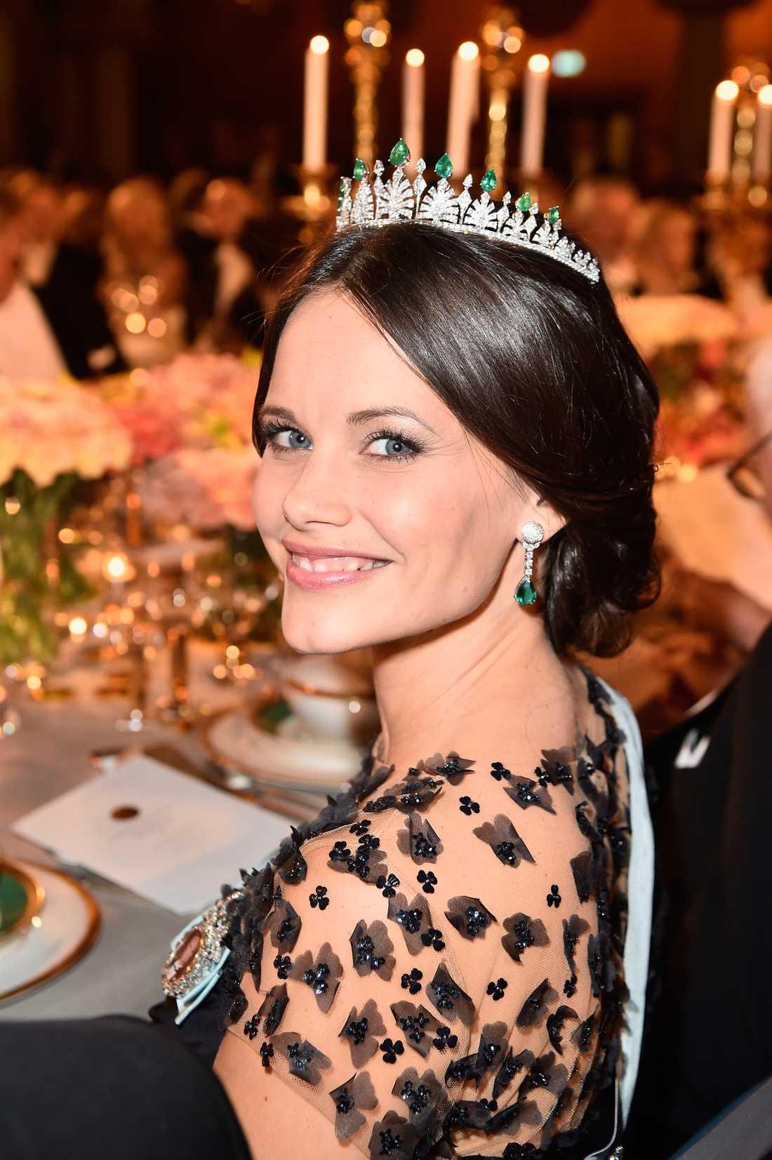 Prinsessan Sofia på nobelmiddagen.
