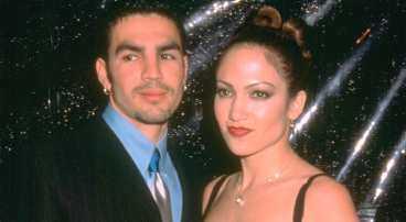 Jennifer Lopez tillsammans med ex maken Ojani Noa.