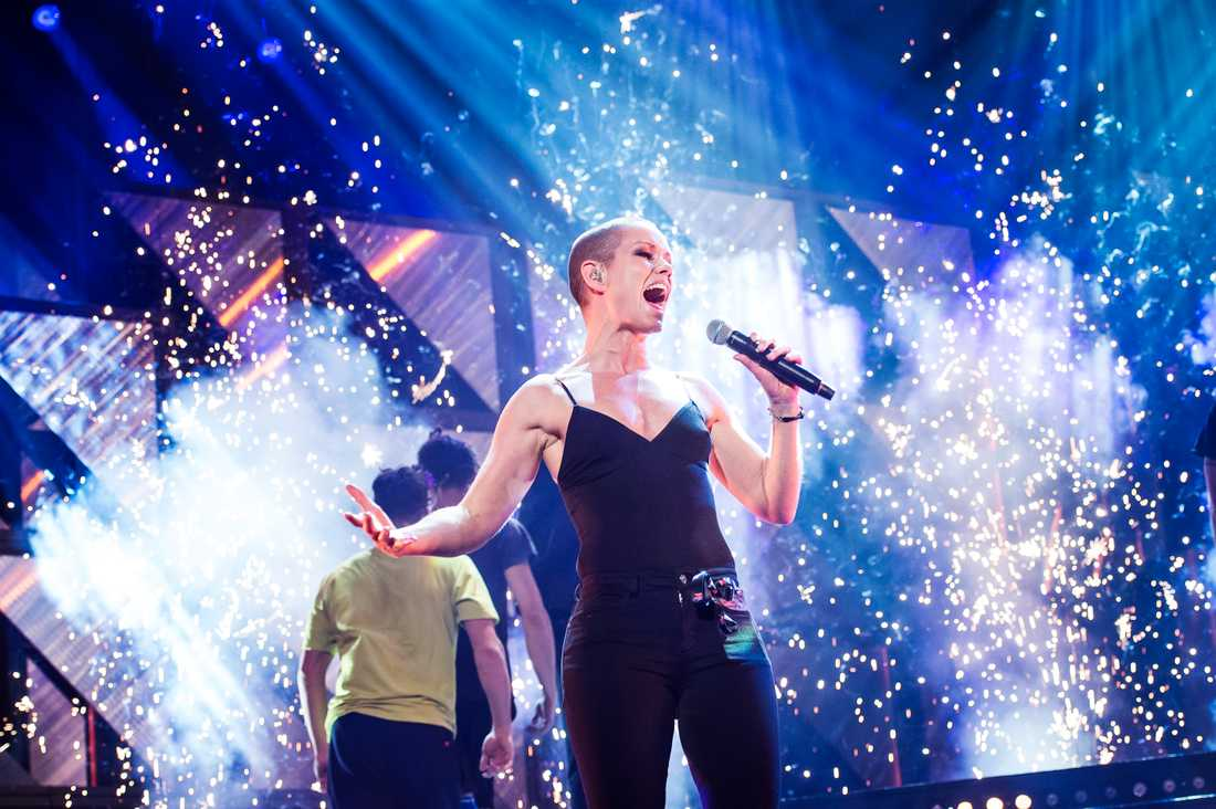 Linda Bengtzing i Melodifestivalen 2018.