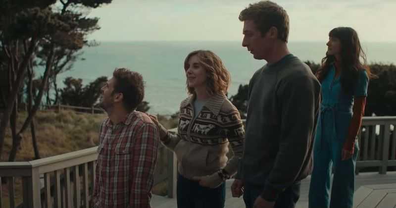"""Dan Stevens, Alison Brie, Jeremy Allen White och Sheila Vand i """"The rental""""."""