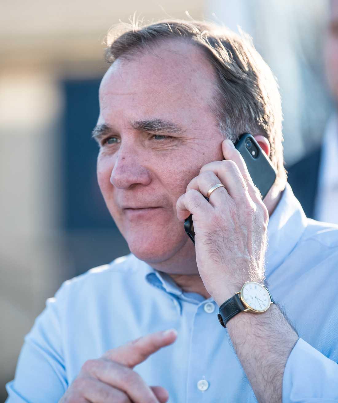 Stefan Löfven fick telefonsamtal från Donald Trump.