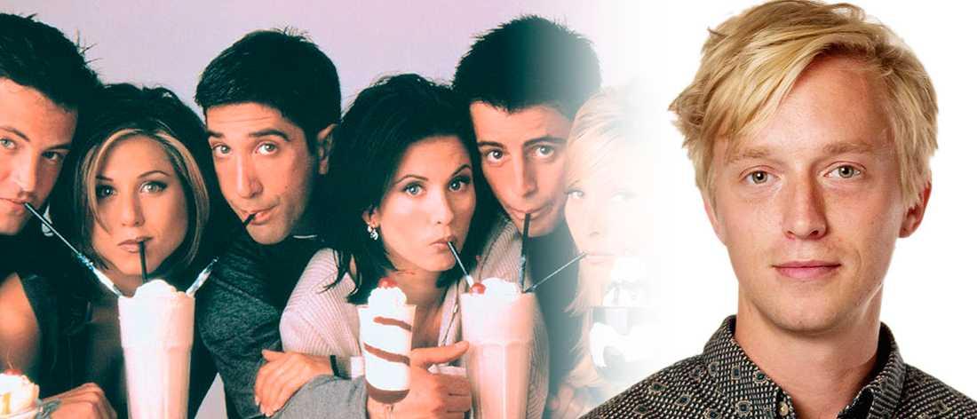 """Jack Hildén har sett om """"Vänner"""" och tycker serien har oförtjänt dåligt rykte i dag."""