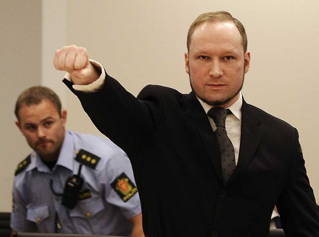 Anders Behring Breivik (född 1979) mördade 69 personer på Utöya den 22 juli 2011. Foto: AP