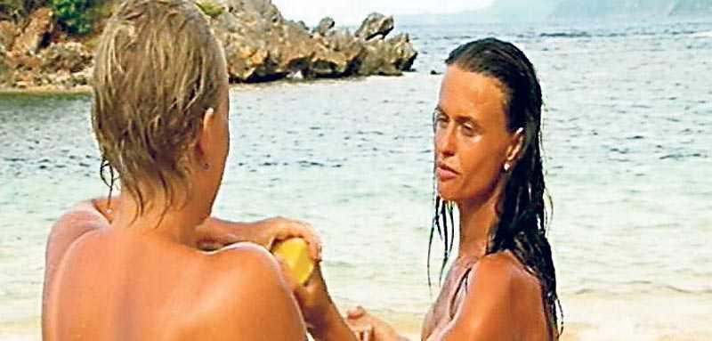 Veronika och Suzanna duschade i gårdagens avsnitt.