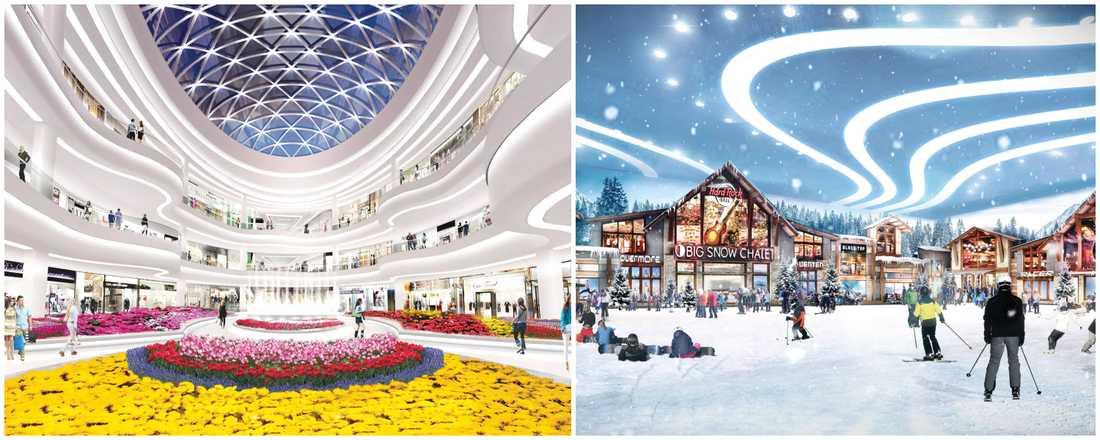 I höst öppnar ett gigantiskt shopping- och nöjescenter utanför New York.