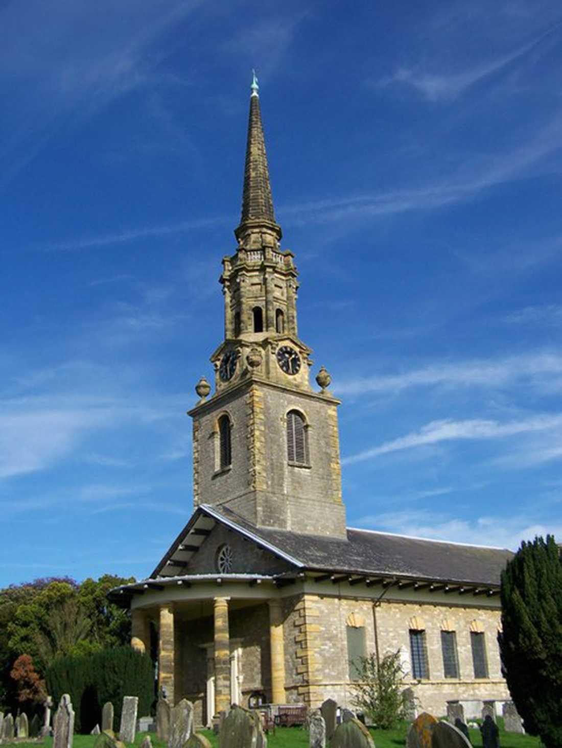 St Lawrence-kyrkan i Kent, Storbritannien.