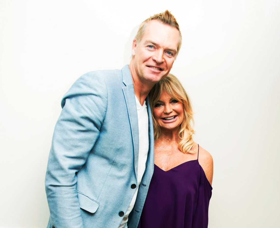 Magnus Sundholm och Goldie Hawn.