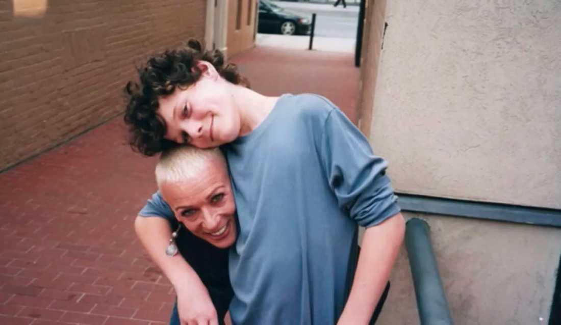 Anton Yelchin med sin älskade mamma Irina.