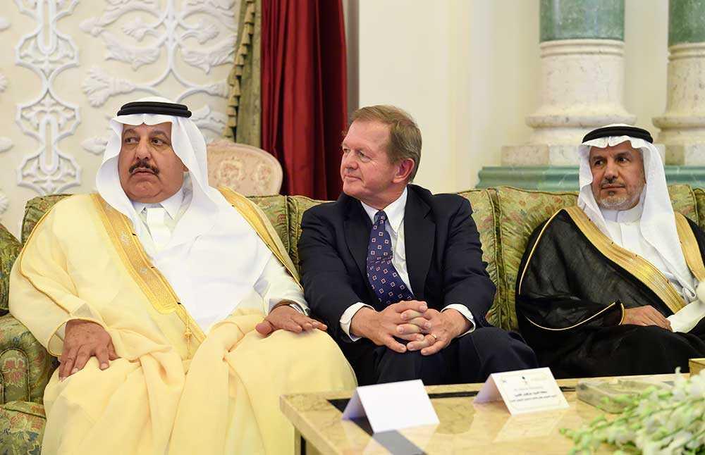 Marcus Wallenberg på plats då statsminister Stefan Löfven på söndagen träffade handels- och investeringsminister al-Qassabi i Saudiarabiens huvudstad Riyadh.