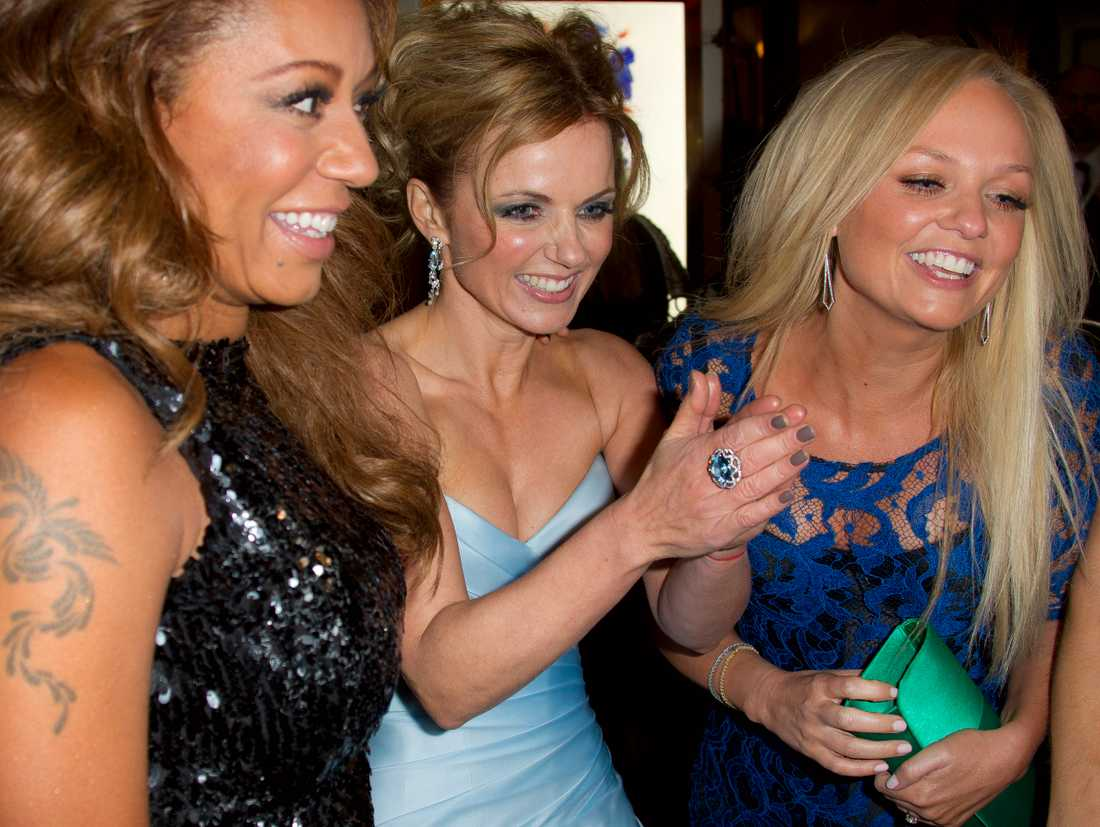 Melanie Brown tillsammans med kollegorna i Spice girls.