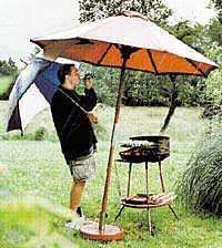 förbeder dig på regn Regn i midsommar, spår väderprofessorn Wolfgang Röder. Gardera dig med regnskydd inför grillfesten.