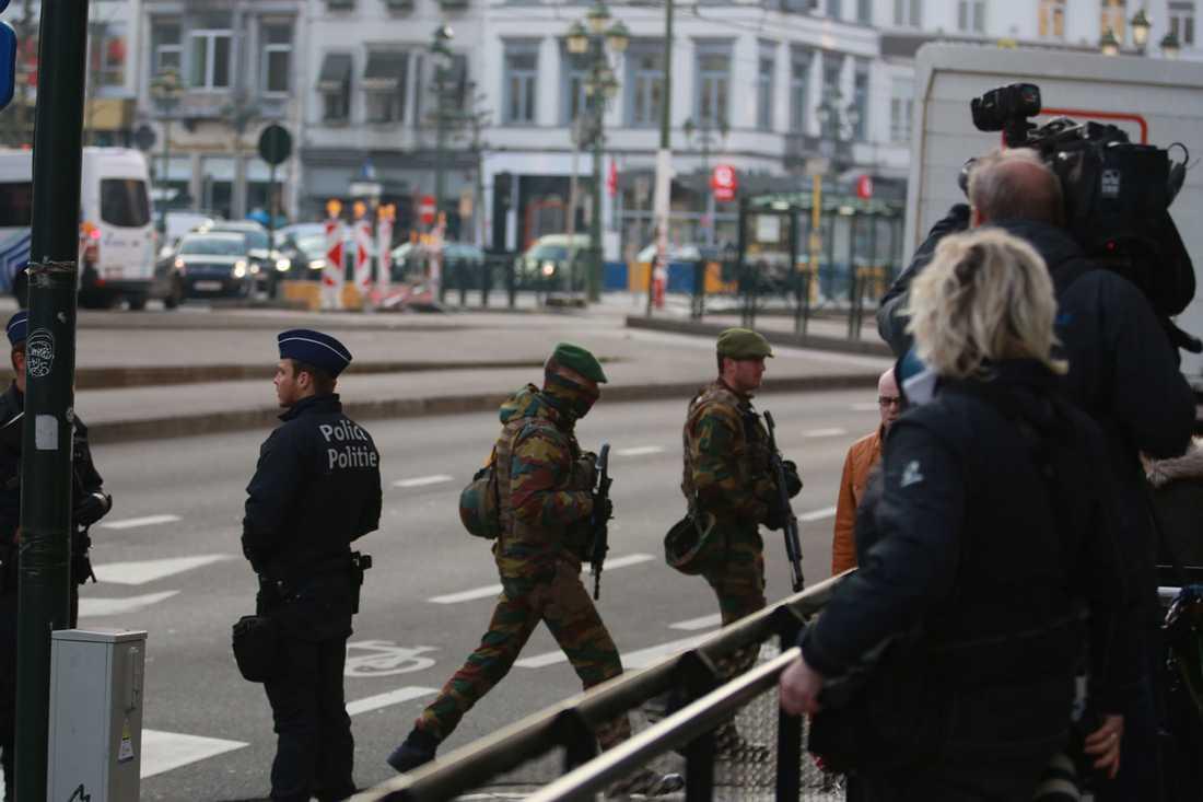 Häktningsförhandling mot terrormisstänkte svensken Osama Krayem i Bryssel.
