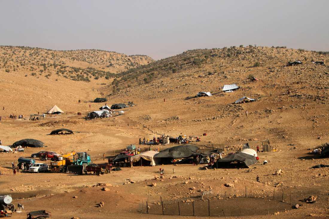 Sinjarberget där många har tagit sin tillflykt efter att terrorarmén IS dragit fram.