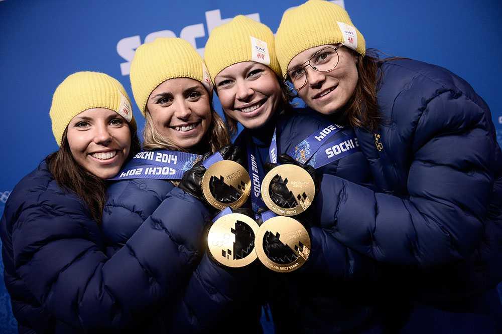 Tillsammans med Haag, Wikén och Ingemarsdotter tog Kalla OS-guld i stafetten efter ett bragdartat lopp av Kalla.