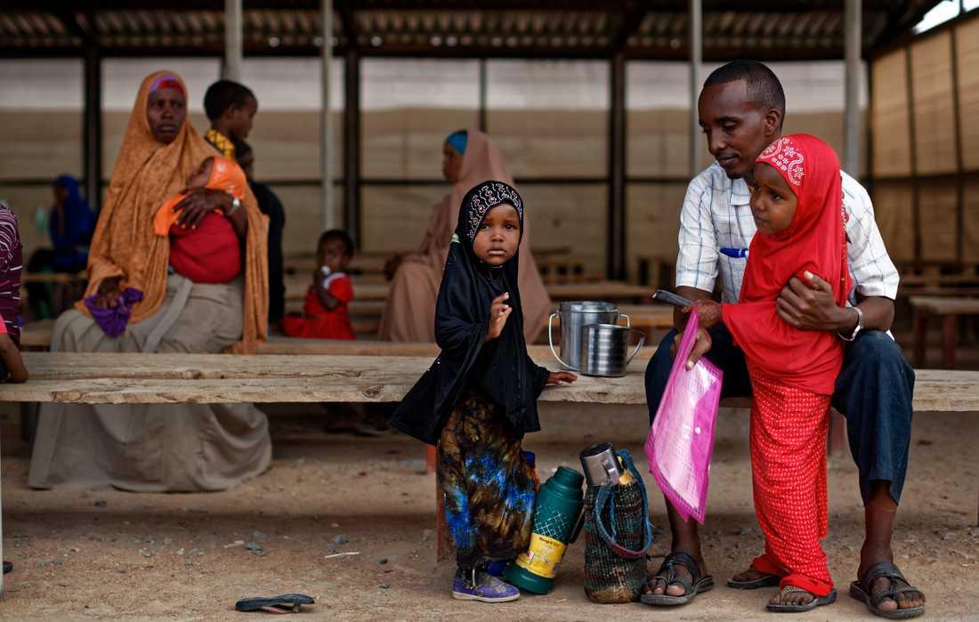 Barn i flyktinglägret Dadaab i Kenya. Arkivbild.